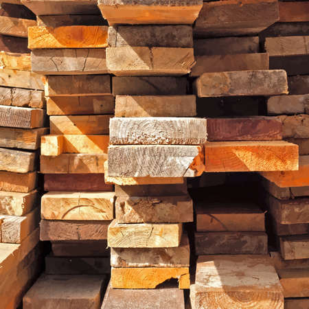 felling: Many Stacked Boards