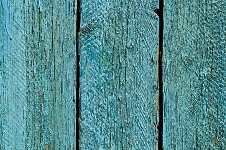 Blue Wooden Planks Fence Background. Closeup. photo