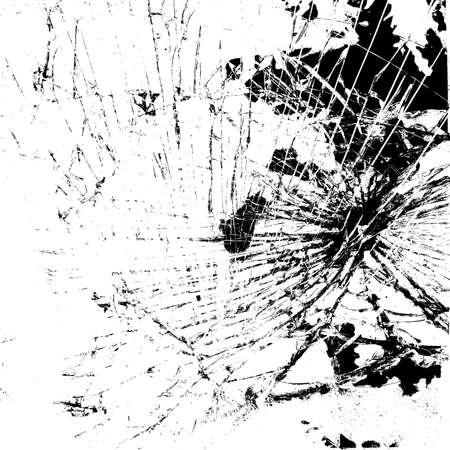 Gebroken glas textuur Stock Illustratie