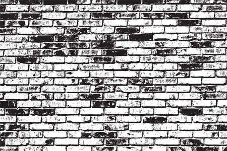 brick facades: Brick wall overlay texture - for your design. EPS10 vector.