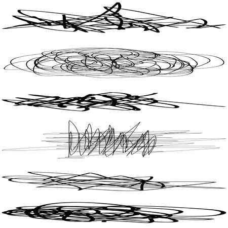 abstract scribble: Firma conjunto abstracto Scribble Grunge Brush EPS10 vectorial.
