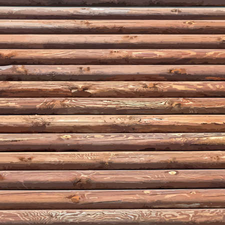 log wall: Wooden Logs Background