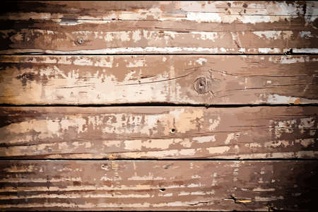 distressed background: Peeled Painted Wooden Planks For Your Design.  Illustration