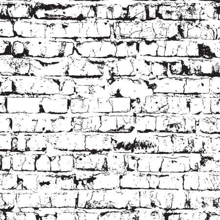 nakładki: Ceglany mur tekstury nakładki - do projektowania Ilustracja