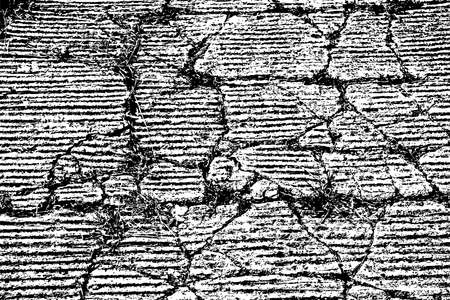 rift: Damaged Wall overlay texture with a big rift. EPS10 vector. Illustration