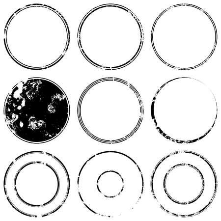Grunge sello de proyectos de maquetas conjunto de grunge overlay base sello textura para su diseño. Vector EPS10. Foto de archivo - 45930539