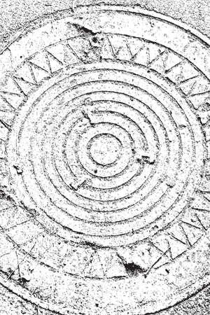nakładki: Distress overlay texture manhole - EPS10 vector illustration. Ilustracja