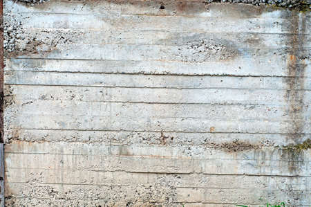 Beton: Distress beton background with formwork striped traces. Stock Photo