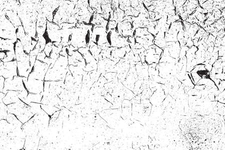 distressed: Distressed Cracked Paint Overlay Texture. EPS10 vector. Illustration