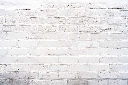 Distress white brick wall background for your design. Stock Photo