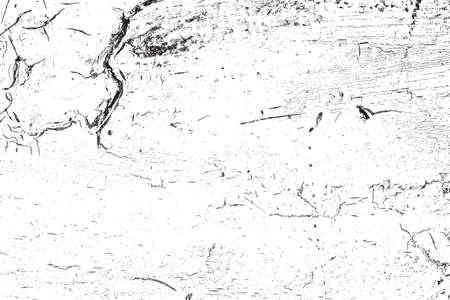 damaged: Damaged cracked texture. Illustration
