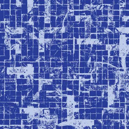 line work: Distress Checkered Blue Wall Wall Texture.