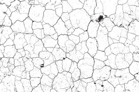 Dry Cracked Earth Overlay Vector Texture For Your Design. EPS10