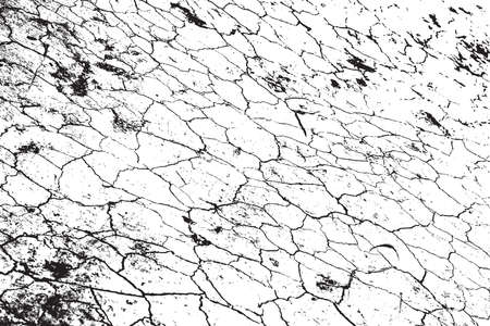 cracked earth: Dry Cracked Earth Overlay Vector Texture For Your Design. EPS10