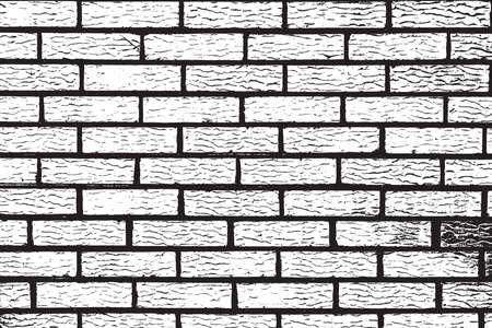 building block: Distress Brick Wall Overlay Grunge Texture. Emty design element. Illustration