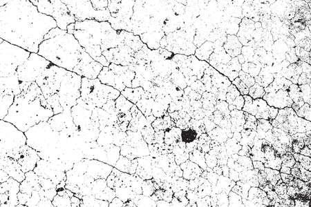 Crack Distress Texture. Background Grunge Overlay. Sale Endommagé Element. vecteur EPS10. Vecteurs