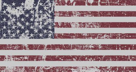 アメリカ合衆国の苦しめられた旗。 写真素材 - 64446519
