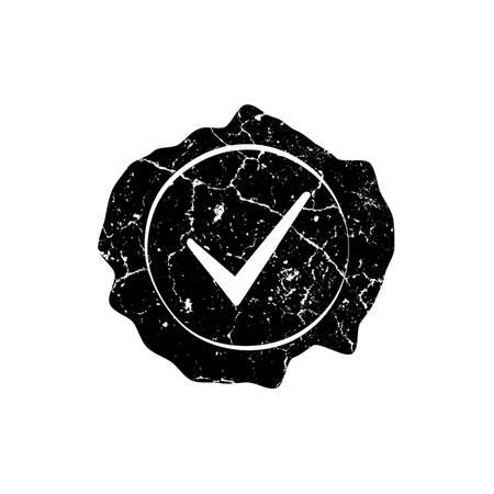 sealing: Distressed Wax Sealing Stamp Overlay Texture. Empty Grunge Design Template. EPS10 vector. Illustration