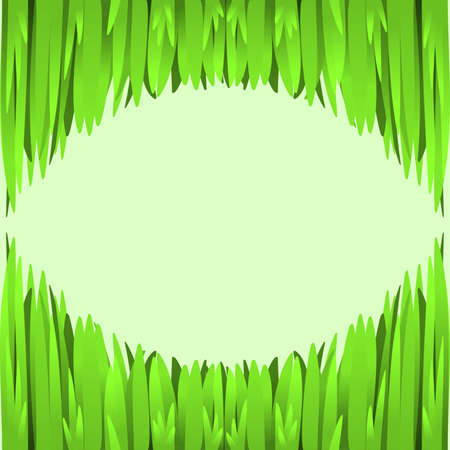 Green grass frame border element for your design.