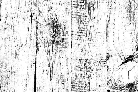 Grunge wooden planks messy background. Distressed grainy wood overlay texture. Dirty rustic empty cover template. Rural fence wall backdrop. Weathered aging design element. EPS10 vector.