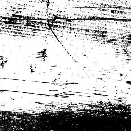 Grunge old wood dirt cover template. Wooden dry planks distressed overlay texture messy dark knot. Weathered rural timber grainy backdrop. Aged dried board creative element. EPS10 vector. Ilustracja
