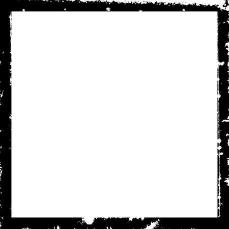 Empty border overlay background for aging your design. Grunge square frame border texture set. Distress damaged edge urban vintage template collection. Brush stroke element. EPS10 vector. Vektorové ilustrace