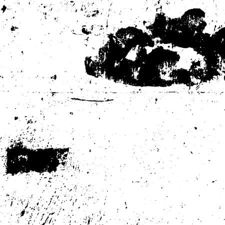 Distress urban used texture. Grunge rough dirty background. Brushed black paint cover. Overlay aged grainy messy template. Renovate wall scratched backdrop. Empty aging design element. EPS10 vector. Illustration