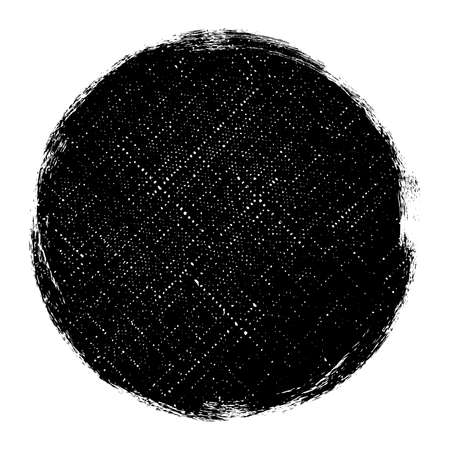 Distressed Circle Stamp Vector Black Color Overlay Textures. Round Bold Grunge distress Template background For your design. EPS10 vector.