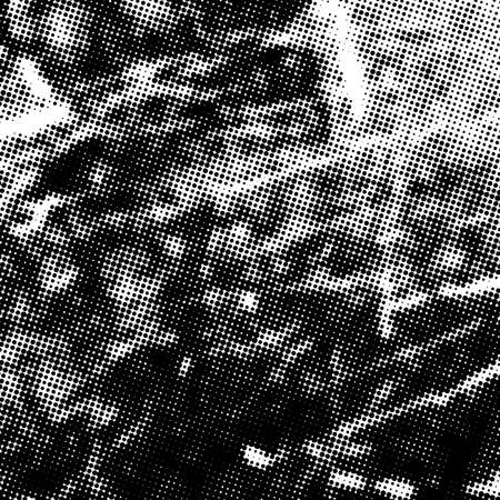Halftone Distressed Overlay Texture for your design. Empty grunge design element. EPS10 vector.