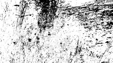 Overlay aged grainy messy template. Distress urban used texture. Grunge rough dirty background. Brushed black paint cover. Renovate wall frame grimy backdrop. Empty aging design element. EPS10 vector. Illustration