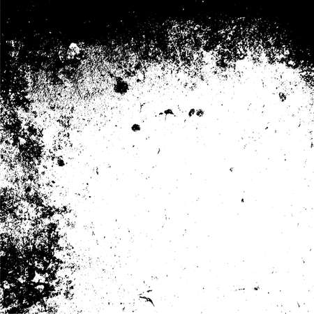 Grunge dust messy background. Distressed spray grainy overlay texture. Dirty powder rough empty cover template. Aged splatter crumb wall backdrop. Weathered drips aging design element. EPS10 vector. Stock Photo