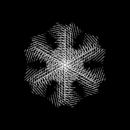 grunge snowflake isolated brushed christmas design template