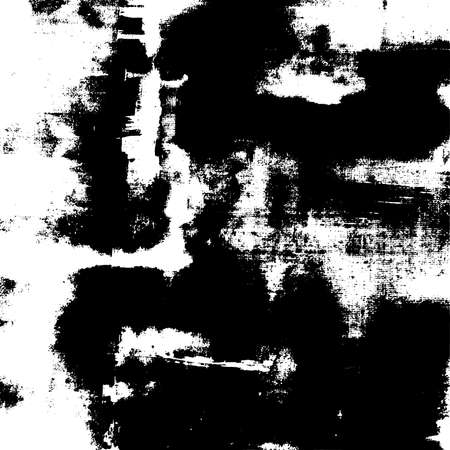 Grunge Used dirty background. Distress urban frame texture. Brushed black paint cover. Overlay aged grany messy template. Renovate wall grimy backdrop. Empty aging design element. EPS10 vector.