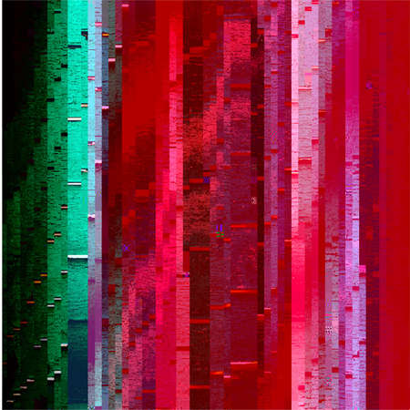 Abstract fantastic glitched background, vector geometric pattern. EPS10 vector. Çizim