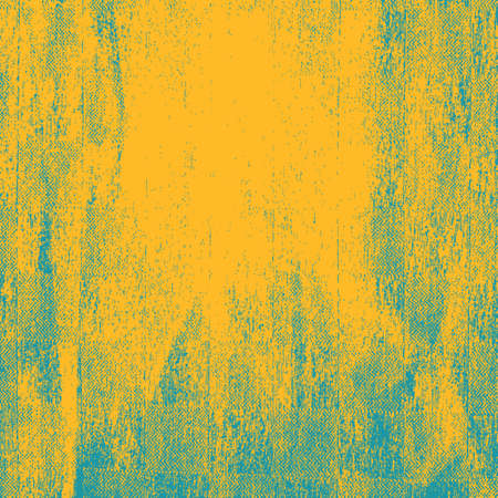 Distressed Grunge Yellow color texture. Empty damaged blue and scratchy painted background. EPS10 vector.