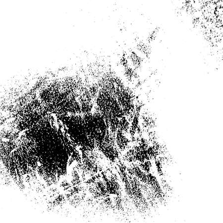 Distress dirty overlay background. Grunge mess blot background. Burnt trace cover design element. EPS10 vector.