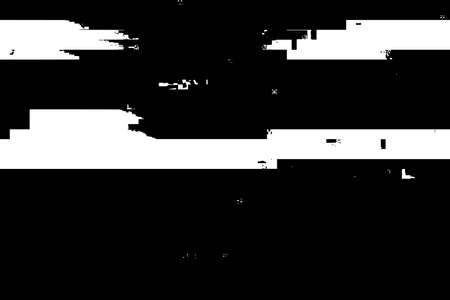 Glitch overlay distress texture. Cyber hacker attack theme creative design template. Grunge glitched black and white background. EPS10 vector. Ilustração