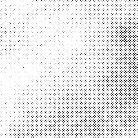 Distress grunge halftone overlay texture. Dirty dot noise aging design template. Pop art artistic element. EPS10 vector.