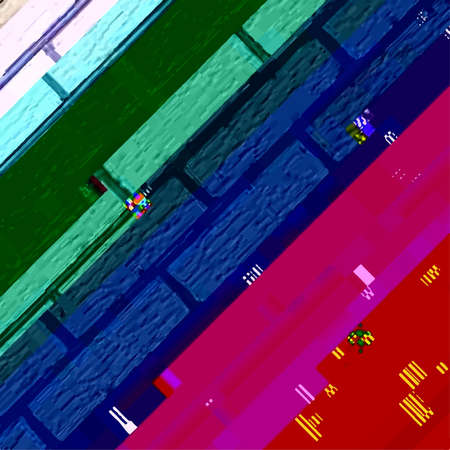 Abstract fantastic glitched background, vector geometric diagonal monitor error pattern.