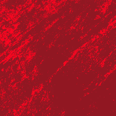 Empty Distressed Scarlet Background. Grunge Red Texture For your Design. Bloody artistic template. EPs10 vector