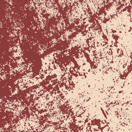 Distress red color texture overlay. Grunge background template. Damaged design element. Grainy basis backdrop. EPS10 vector