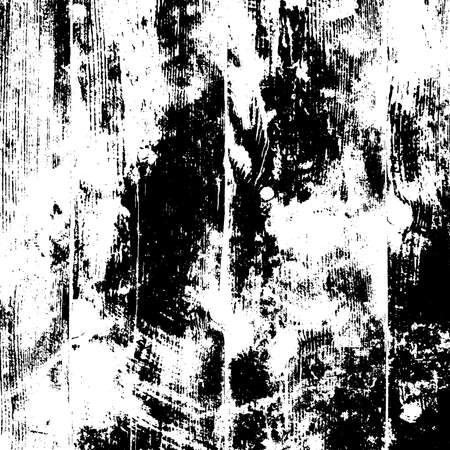 Distressed black overlay texture. Grunge dark messy background. Dirty empty cover template. Ink brushed renovate wall backdrop. Insane aging design element. EPS10 vector