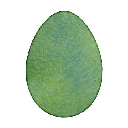 Beautiful festive holiday design element. Easter egg painted in watercolor technique isolated on a white background. EPS10 vector.