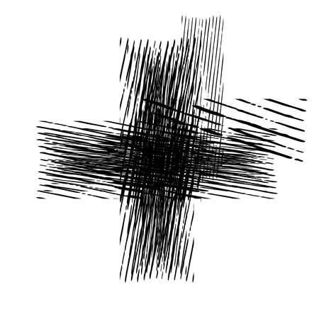 Grunge Cross stroke distress isolated element. Abstract banner or background. EPS10 vector. 向量圖像