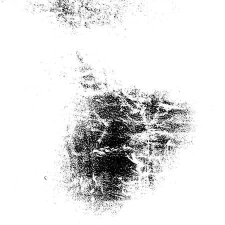 Texture de superposition granuleuse en détresse. Grunge fond désordonné coin sombre. Modèle de couverture vide en papier sale. Coup d'encre brossé toile de fond de forme carrée. Élément de conception de frontière vieillissant insensé. vecteur EPS10