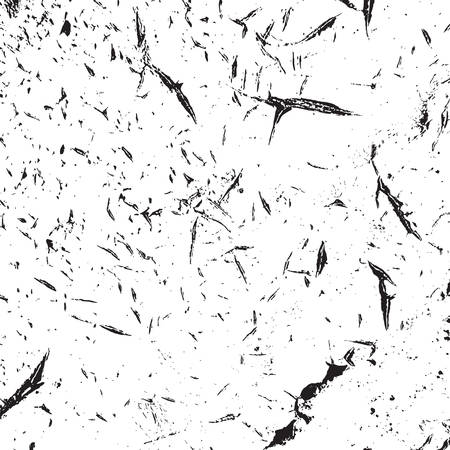 Angustia textura urbana usada. Fondo sucio áspero de Grunge. Cubierta de pintura negra cepillada. Superposición de plantilla desordenada granulada envejecida. Renovar el telón de fondo rayado de la pared. Elemento de diseño de envejecimiento vacío. Vector EPS10 Ilustración de vector
