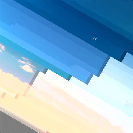 Abstrakte Glitch Notbeschaffenheit. Kreative Designvorlage für Cyber-Hacker-Angriffe. Grunge Farbpixelhintergrund mit Pannen. EPS10-Vektor Vektorgrafik