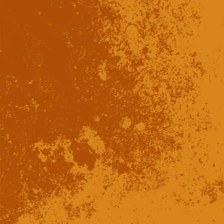 Brushed orange paint cover. Distress urban used texture. Grunge rough dirty background. Overlay aged grainy messy template. Renovate wall scratched backdrop. Empty aging design element. EPS10 vector 向量圖像