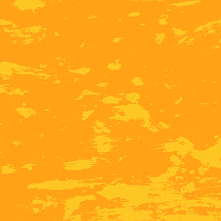 Brushed orange paint cover. Distress urban used texture. Grunge rough dirty background. Overlay aged grainy messy template. Renovate wall scratched backdrop. Empty aging design element. EPS10 vector