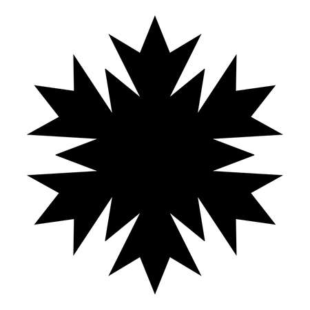 Simple Snowflake isolated element for your design. EPS10 vector.